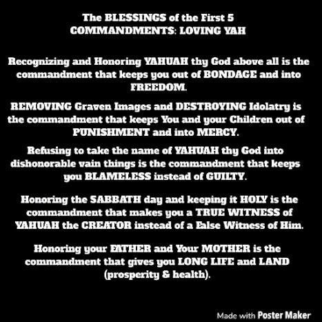 blessings of guarding 10 commandments