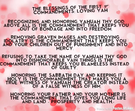 blessings of the first 5 Commandments